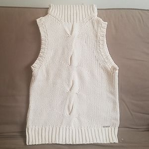 Michael Kors sleeveless cable knit sweater